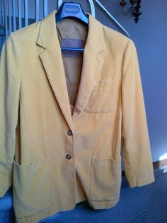 Vintage Velvet Jacket - Yellow by WhitleyBay on Etsy