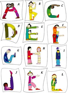 Making the Alphabet with your body:):) Ecole maternelle La Plaine - Magland - Poésie Alphabet Activities, Literacy Activities, Activities For Kids, Teaching Resources, Yoga For Kids, Exercise For Kids, Kids Yoga Poses, Chico Yoga, Letter Recognition