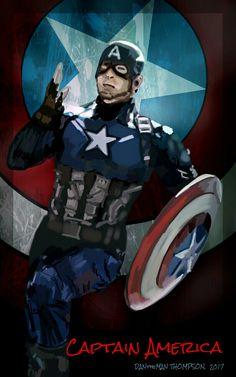 (Spen Art) Captain America v1 (DANtheMAN607 7/01/17)