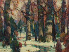 John Fabian Carlson (Am. 1875-1947), Snowy Forest