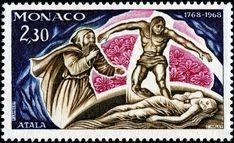 """Mónaco 1968 - Novela""""Atala"""" escrita por François-René de Chateaubriand"""