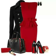Bold in Red....Olivia Pope style - Would love to pair this with some gold jewelry