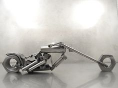Nuts and Bolts Motorcycle sculptures   Flickr - Photo Sharing!