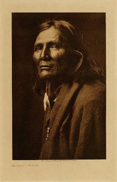 Alchise, 1853-1928, Chief White Mountain Apache (Western Apache). Indian Scout (Sergeant). Medal of Honor. - Photo by Edward S. Curtis, 1906 - (B/w copy)
