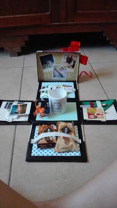 Regalo para mamá - Zinc Tutorial and Ideas 3d Paper Crafts, Diy Arts And Crafts, Diy Birthday, Birthday Gifts, Craft Gifts, Diy Gifts, Exploding Gift Box, Diy Presents, Explosion Box
