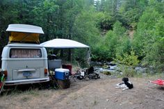 Riverside camping, VW Bus style~ Oregon Cascades