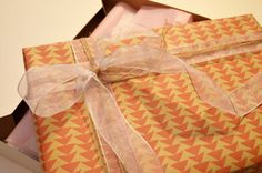 """Ready for you on Etsy! By Stella and Regina Pink Kraft Paper Wrapped Apparel Gift Box (9.5"""" X 15"""")"""