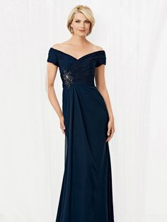Charming A Line V Neck Natural Floor Length Chiffon Blue Short Sleeve Pleating Mother Of The Bride Dress B2ct0012