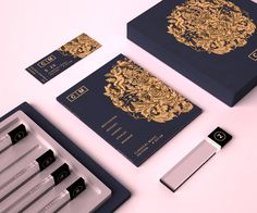 Valentin Leonida has created this packaging design for a box that holds a full collection of classical music stored on 'crystal sticks techno
