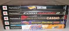 PS2 Video Game Lot of 5 Various Racing Games ShoX Drag Racing Ford Hot Wheels