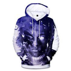 Aikooki Raper Xxxtentacion hoodies Men/women With Hot Hip Hop Fashion Print Men's Hoodies and Sweatshirt Xxxtentacion Xxxtentacion Hoodie, Blue Hoodie, Pullover, Revenge Hoodie, Moda Hip Hop, Hip Hop Singers, Rapper, Estilo Hip Hop, Harajuku