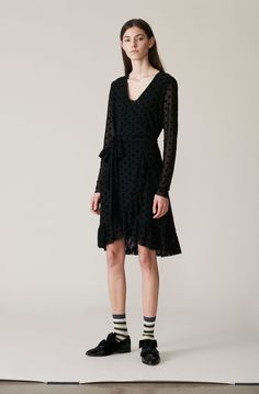Valmy Wrap Dress - Ganni