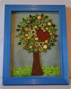 Поделка, изделие Квиллинг: Дерево любви Бумажные полосы Валентинов день