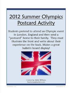 Classroom Freebies Too: Summer Olympic Activity Ideas & Freebie