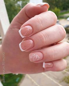 French Tip Acrylic Nails, French Manicure Nails, Square Acrylic Nails, Best Acrylic Nails, Posh Nails, Chic Nails, Trendy Nails, Color Block Nails, Cute Simple Nails