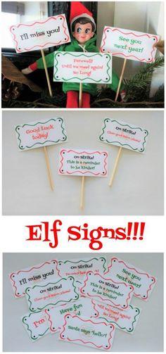 16 Printable Elf Sig