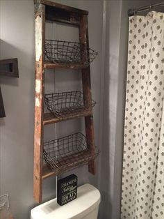 Rustic Country Bathroom Shelves Ideas 16