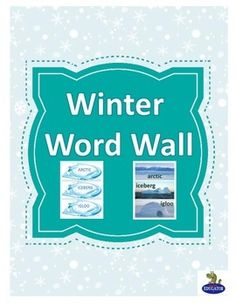 Winter Word Wall - Also Winter Word Sort. A set of 150 cards that have a theme of winter, cold, and staying warm. 75 cards are the words in uppercase letters with a winter background design. 75 cards are the same words in lowercase letters on photo background of the word.