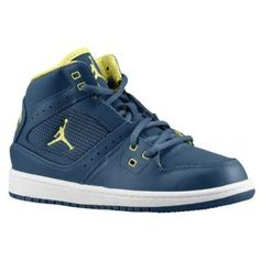 Jordan 1 Flight  - Boys' Preschool - Squadron Blue/Electric Yellow