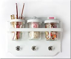 Craft Storage Ideas | Mason Jar Crafts Love