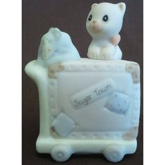 Enesco's Precious Moments Sugar Town Village - Luggage Cart Figurine - Signed 1995 Ship 150185 NIB || Available for sale via the pin's link. To see our complete collection of Precious Moments available, check out our store under the Collectibles > Enesco > Precious Moments category at http://purpleiris.ecrater.com/c/1760136/precious-moments