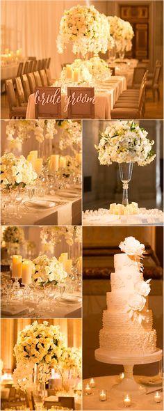 Featured Photographer: Patricia Lyons; glamorous ballroom wedding reception