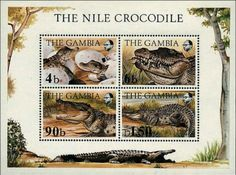 1984 Endangered Species, The Nile Crocodile #Gambia