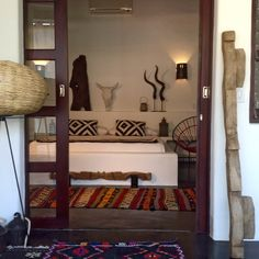 Boutique Hotel suite decorated in tribal theme, very hip design www.tribal-hotel.com