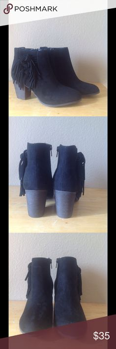 """Fergalicious Clover Fringe Ankle Boots Size 7.5 New without box. Heel: 3""""🚫Trades and please send fair offers. No low balls. Fergie Shoes Ankle Boots & Booties"""