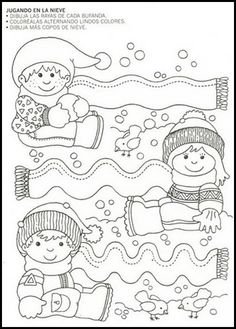 Crafts,Actvities and Worksheets for Preschool,Toddler and Kindergarten.Lots of worksheets and coloring pages. Winter Kids, Winter Art, Winter Theme, Creative Activities, Winter Activities, Preschool Activities, Tracing Worksheets, Worksheets For Kids, Coloring Books