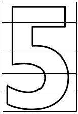 Puzzles dels números de l'1 al 9 imprimibles