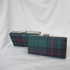 Clan Lockhart Tartan Clutch Bag Purse Miniaudiere por burningbricht
