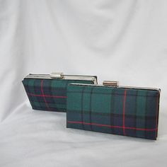 Clan Lockhart Tartan Clutch Bag Purse Miniaudiere por burningbricht