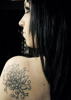 water lily tattoo by AylenWolf