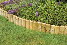 Forest Garden Log Roll | This half round log edging comes in convenient rolls. Ideal for edging, paths, lawns and flowerbeds. Available in three heights