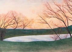 The Pond (L'Étang)   -   Léon Spilliaert   1936  Belgian  1881-1946