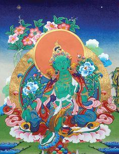 Green Tara Thangka @ NORBULINGKA www.norbulingkashop.com