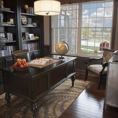 Emily Henderson_Home Office_Dark_Modern_Masculine_1 | Home Office | Work  Space Design | Pinterest | Dark Interiors, Dark And Articles