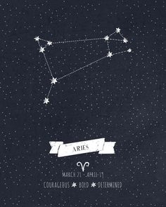 Aries Constellation Print Art Print