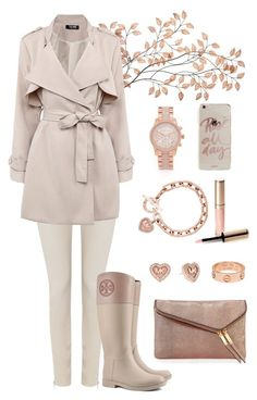 """""""Rose Gold"""" by kikistylealert on Polyvore featuring HUGO, Tory Burch, Michael Kors, By Terry, Cartier, Sonix, Henri Bendel, women's clothing, women and female"""