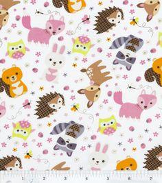 Nursery Fabric- Forest Animals Allover: fabric: Shop | Joann.com