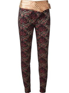 KENZO Skinny Embroidered Trouser