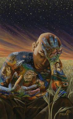 Compassion for all things.It hurts art artistic Namaste, Les Fables, Psy Art, Visionary Art, Psychedelic Art, Native American Art, Spiritual Awakening, Mother Earth, Picture Quotes