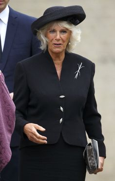 Camilla in black outfit