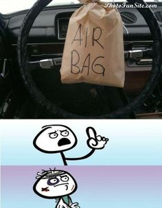 cool AirBag.  - Repin if you like it. More humor on the Photofunsite.com