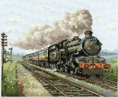 Steam Train Cross Stitch Kit BK1119