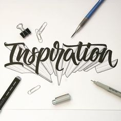 Inspiration Not feeling well today and had no inspiration or motivation when starting this piece. I'm glad I did it as its a little different than the usual stuff and will play with shading a bit more. Hope you guys had/have an awesome day! by ligatures Hand Lettering Alphabet, Hand Lettering Quotes, Graffiti Lettering, Creative Lettering, Lettering Styles, Calligraphy Letters, Typography Letters, Brush Lettering, Lettering Design