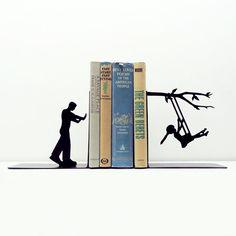 Sweet Swinging Bookends | dotandbo.com