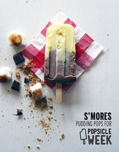 S'mores Pudding Pops // take a megabite