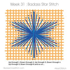 Badass Cross Stitch — Week 31 of the #YearOfStitch : Badass Star Stitch
